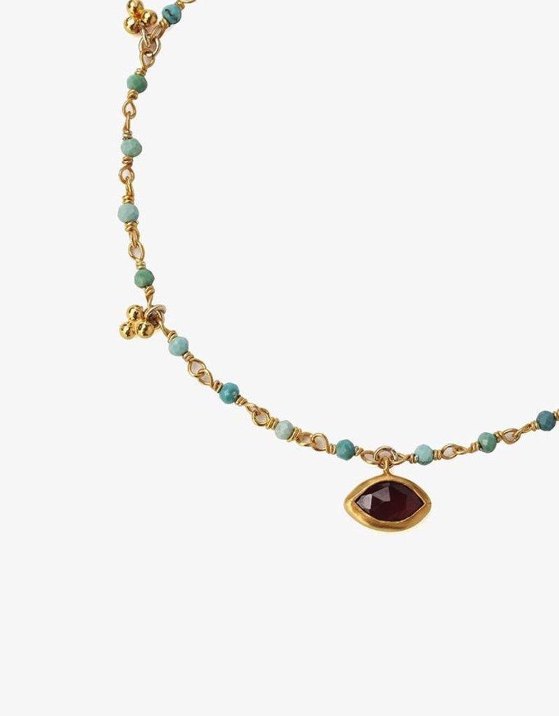 Bracelets Chan Luu - Turquoise Mix Evil Eye Charm Bracelet