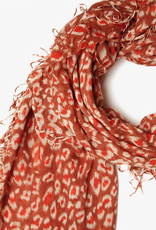 Scarves Chan Luu - Redwood Leopard Print Cashmere And Silk Scarf