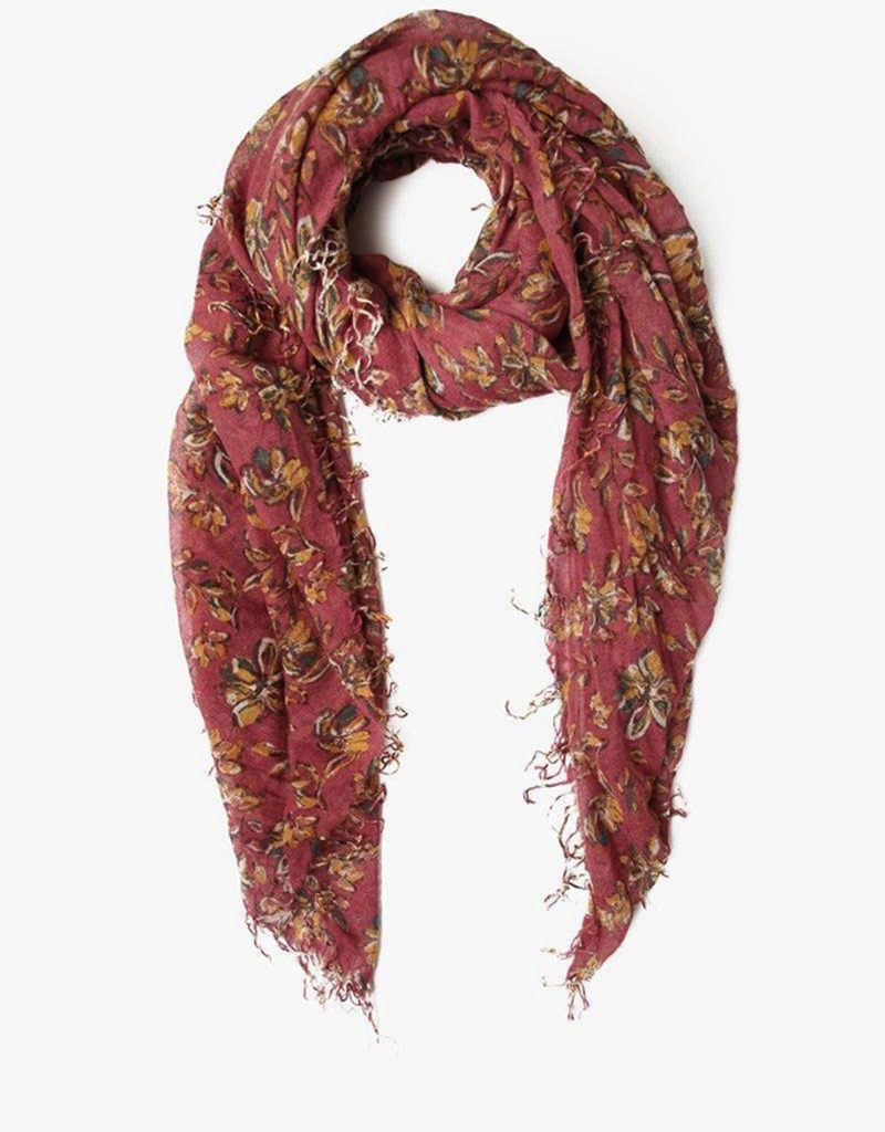 Scarves Chan Luu - Meadow Mauve Painterly Floral Cashmere And Silk Scarf