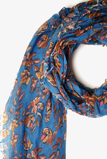 Scarves Chan Luu - Palace Blue Painterly Floral Cashmere And Silk Scarf