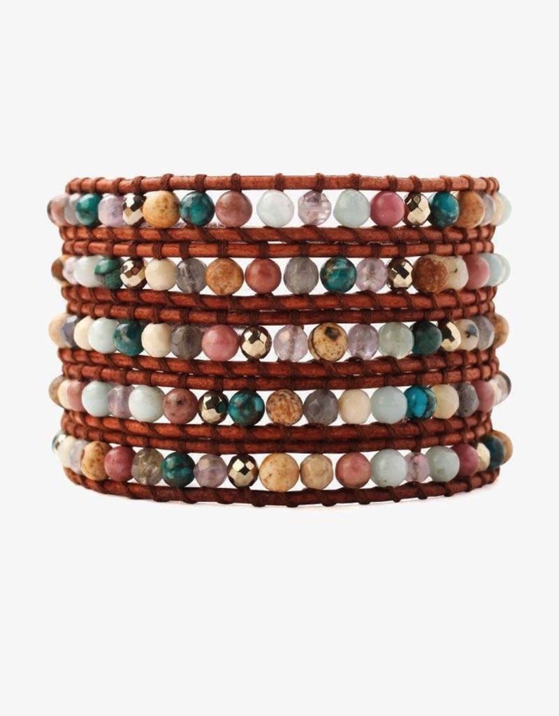 Bracelets Chan Luu - Pink Mix Wrap Bracelet