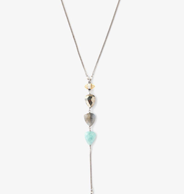 Necklaces Chan Luu - Tiered Amazonite Mix Y Necklace