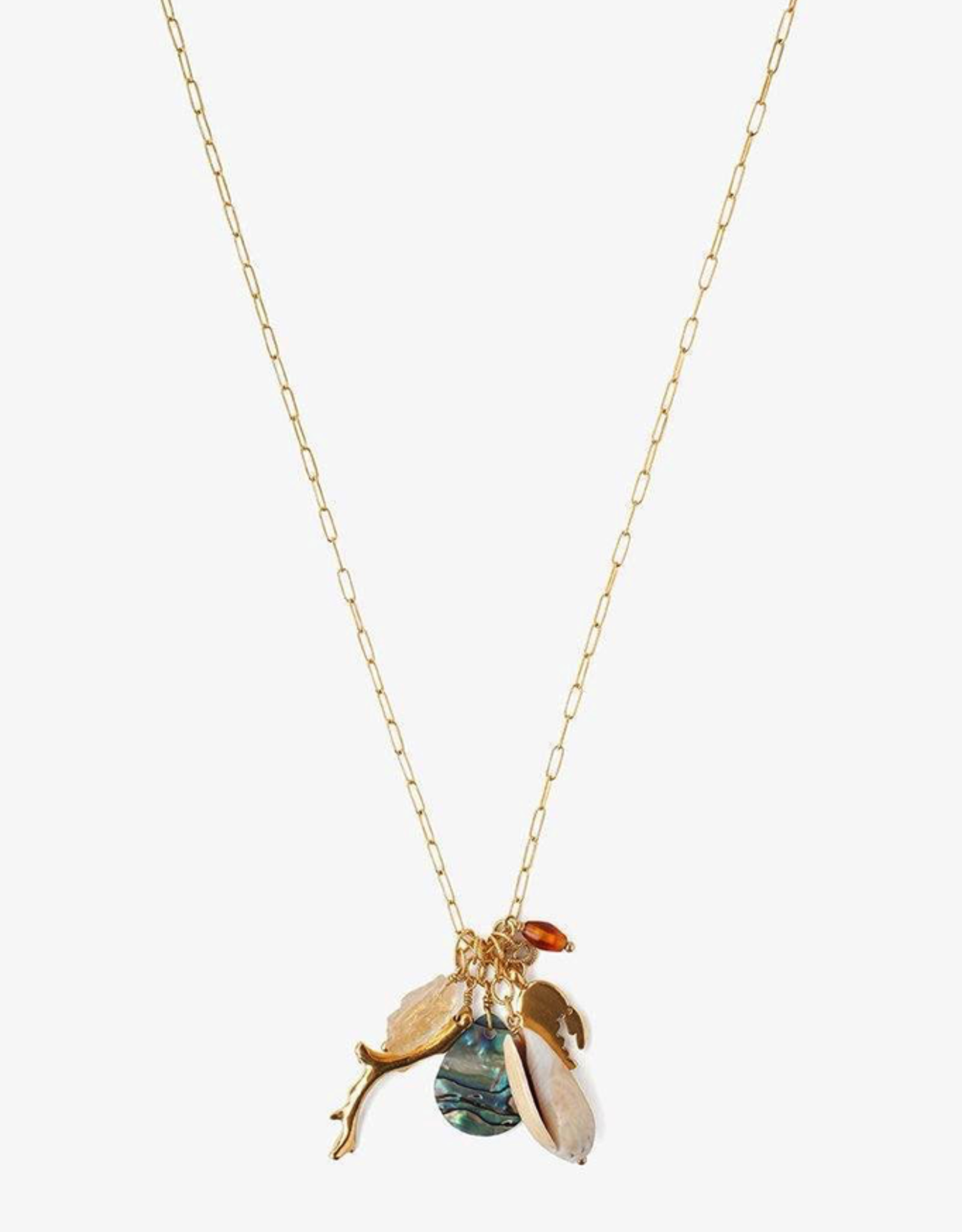 Necklaces Chan Luu- Abalone Mix Sea Charm Necklace