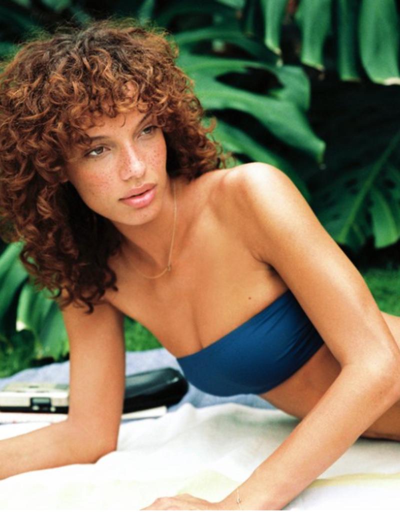 Swimwear Vitamin A - Mila Top in Deep Blue