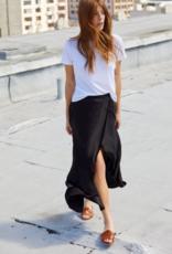 Skirt NATION LTD - Giorgia Wrap Skirt in Black