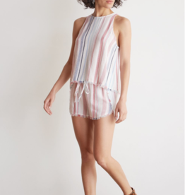 Tops bella dahl - Fray Hem Swing Tank in Florence Stripe