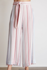 Pants bella dahl - Belted High Waisted Crop Pant in Florence Stripe