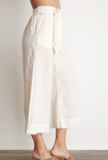 Pants bella dahl - Belted High Waisted Crop Pant in White