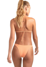 Swimwear Vitamin A - Gia Reversible Triangle Top in Nectar Refresh Rib