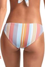 Swimwear Vitamin A - Luciana Full Coverage Bottom in Verano Stripe EcoRib