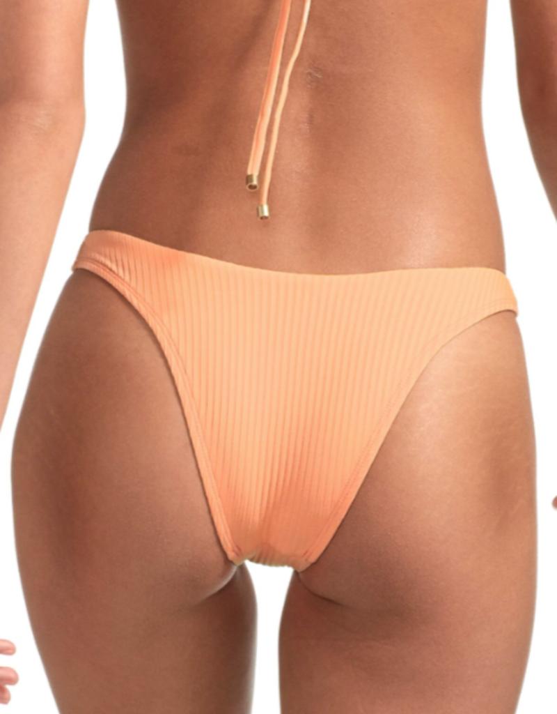 Swimwear Vitamin A - California High Leg in Nectar Refresh Rib