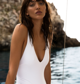 Swimwear Vitamin A - Alana Bodysuit in White BioRib