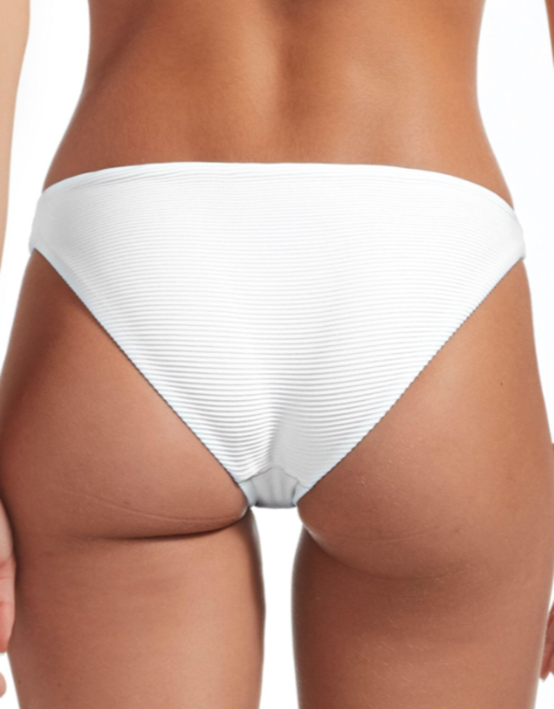 Swimwear Vitamin A - Luciana Full Coverage Bottom in White BioRib