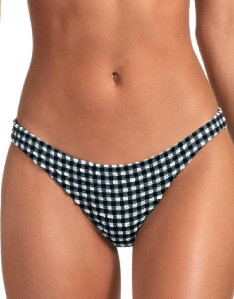 Swimwear Vitamin A - Luciana Full Coverage Bottom in Vichy Black