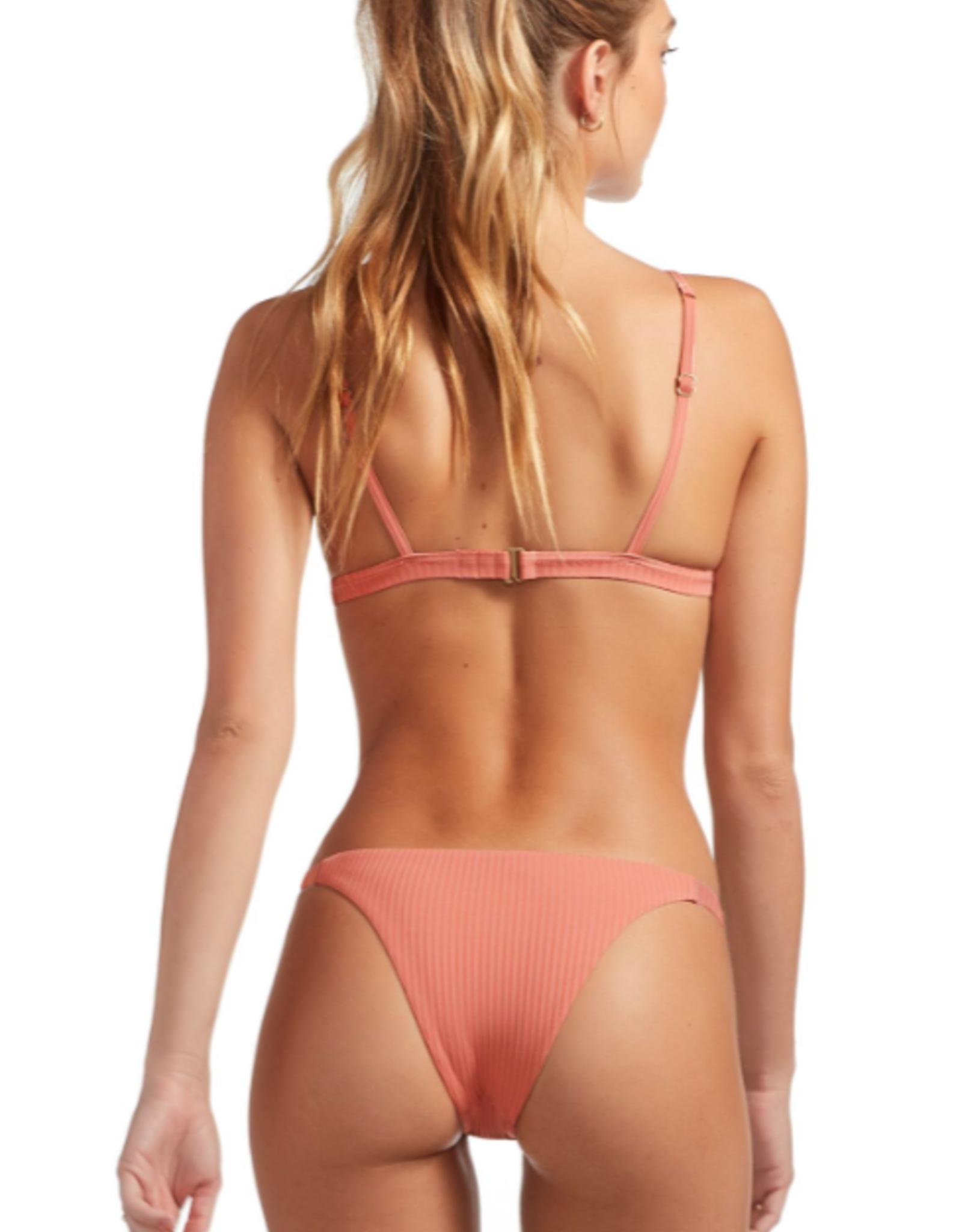 Swimwear Vitamin A - Carmen Bottom in Soft Coral EcoRib
