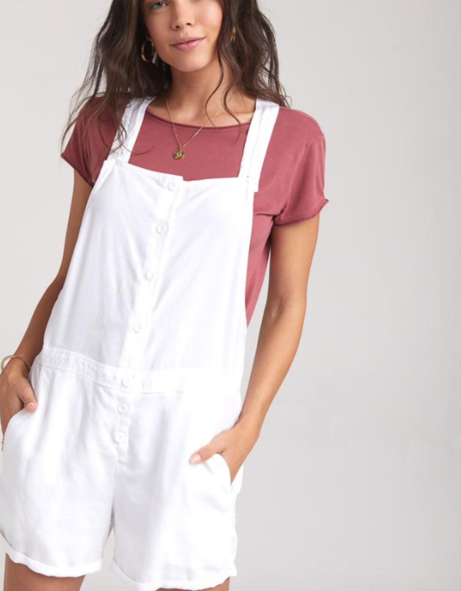 Jumper bella dahl - Button Front Shorterall in White
