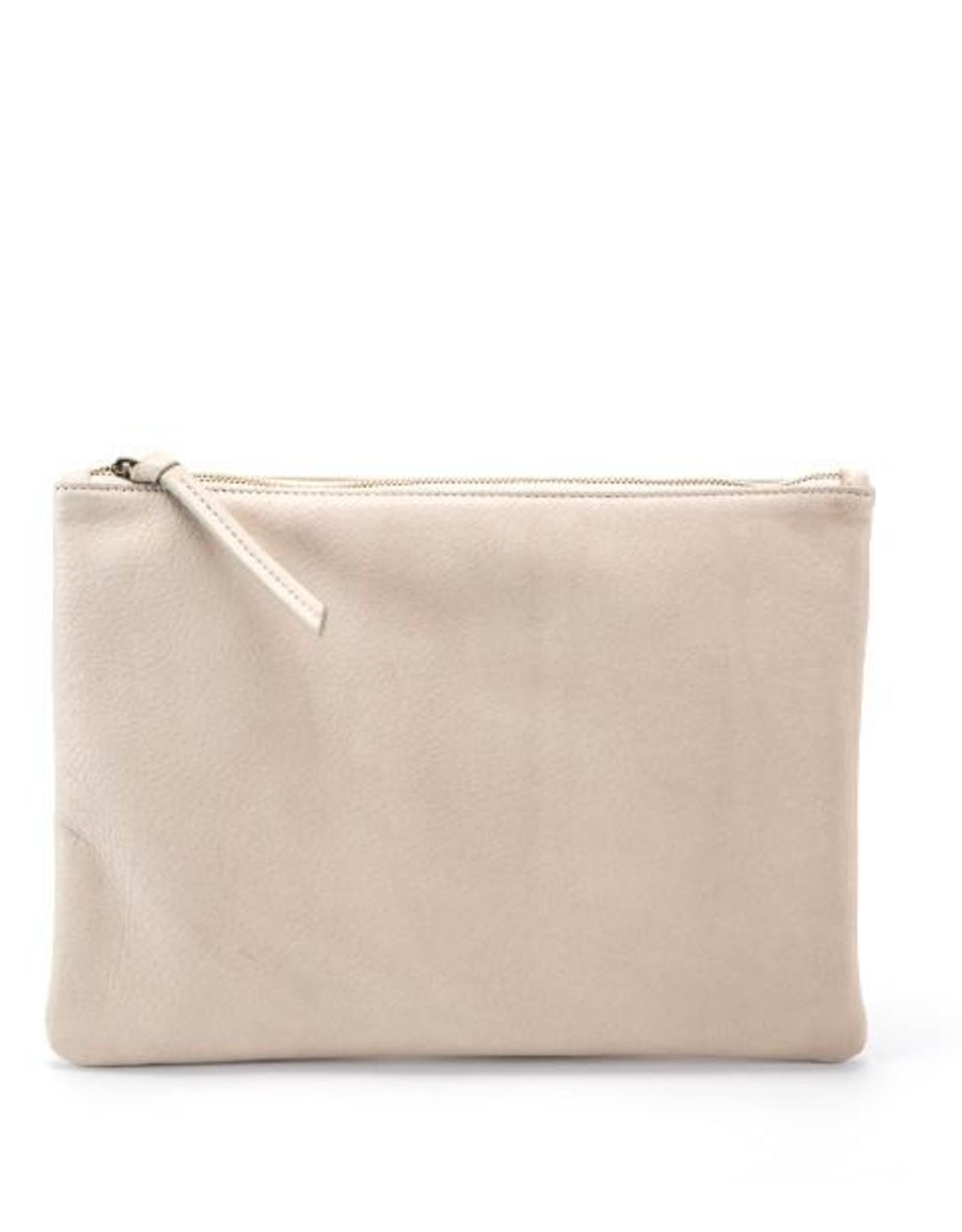 Handbags Molly G - Rebel Clutch in Bone