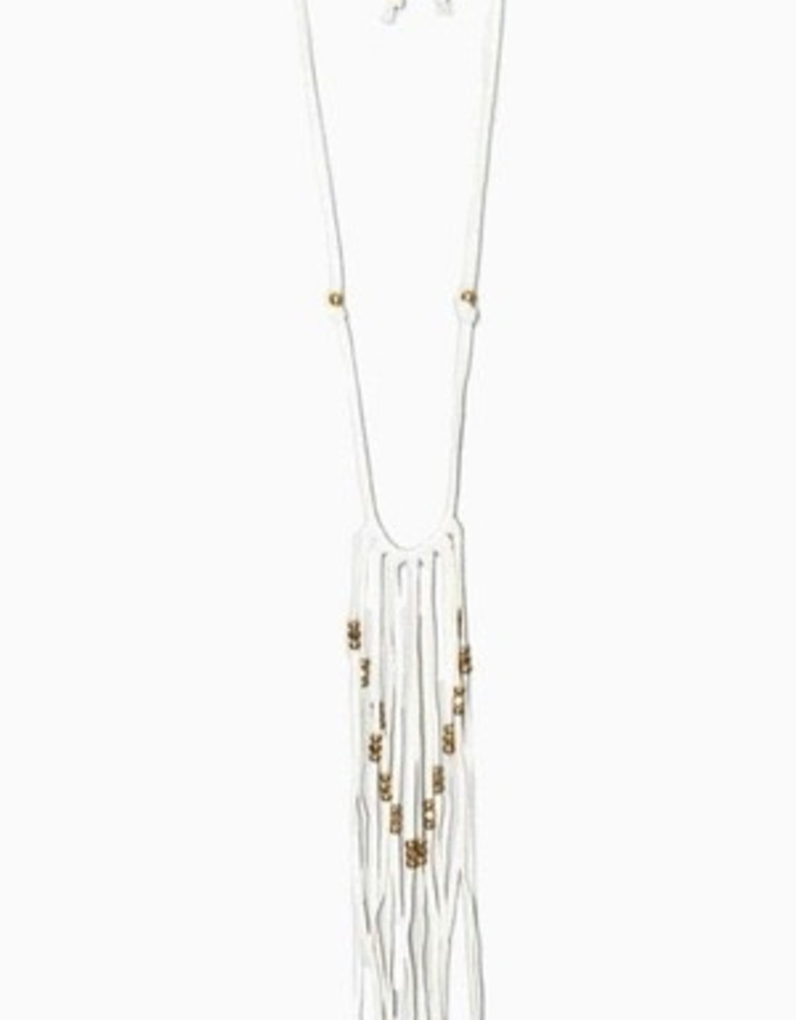 Necklaces Turquoise & Tobacco - Deer Skin Leather Fringe Necklace