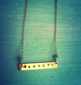 Necklaces Namaste Stamped Necklace