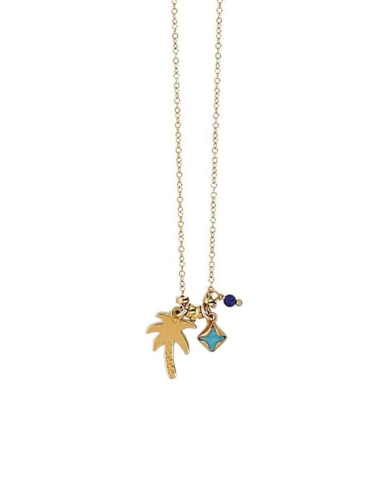 Necklaces Chan Luu - Palm Tree & Turquoise Mix Necklace