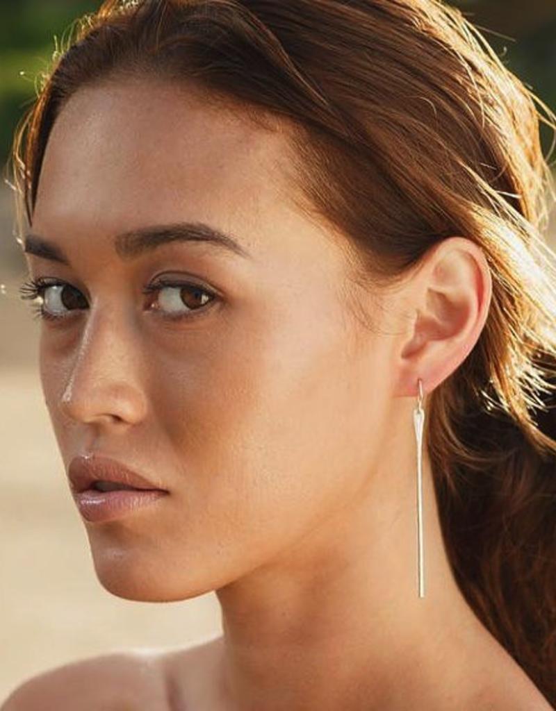 Earrings Wahine Rox - Pahi Silver Earrings