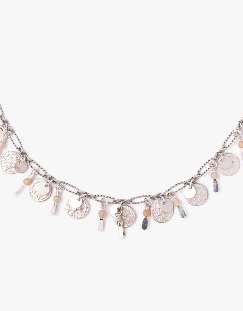 Necklaces Chan Luu - Sunstone Adjustable Coin Necklace