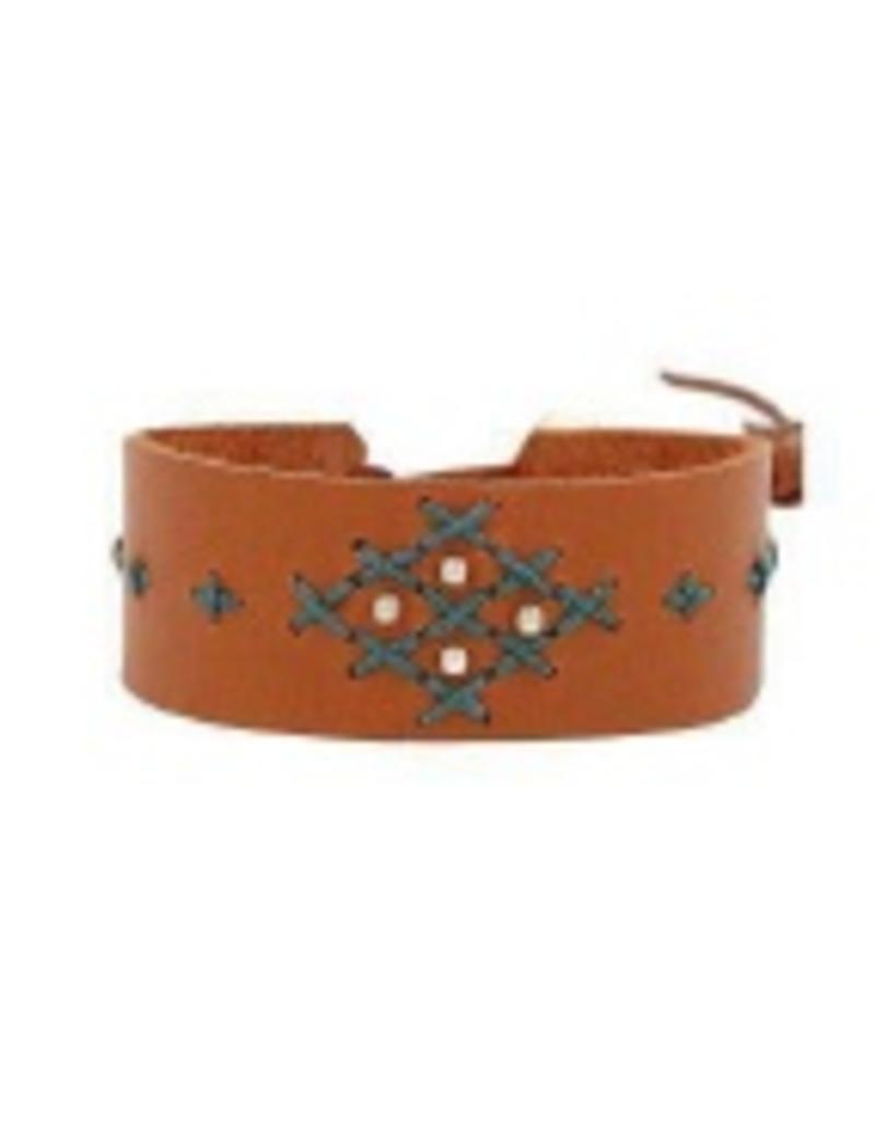 Bracelets Chan Luu - Tan Mix Leather Bracelet