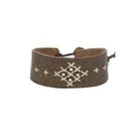 Bracelets Chan Luu - Pewter Mix Leather Bracelet