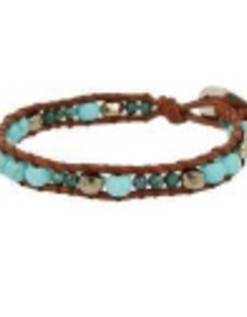 Bracelets Chan Luu - Turquoise Mix Single Wrap Bracelet