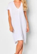 Dresses felicite - Double V Neck Dress in White
