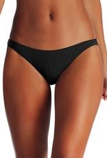 Swimwear Vitamin A - Luciana Full Coverage Bottom in Black EcoRib