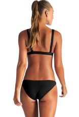 Swimwear Vitamin A - Luciana Full Coverage Bottom in Black EcoRib