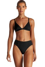 Swimwear Vitamin A - Sienna High Waist in Black EcoRib