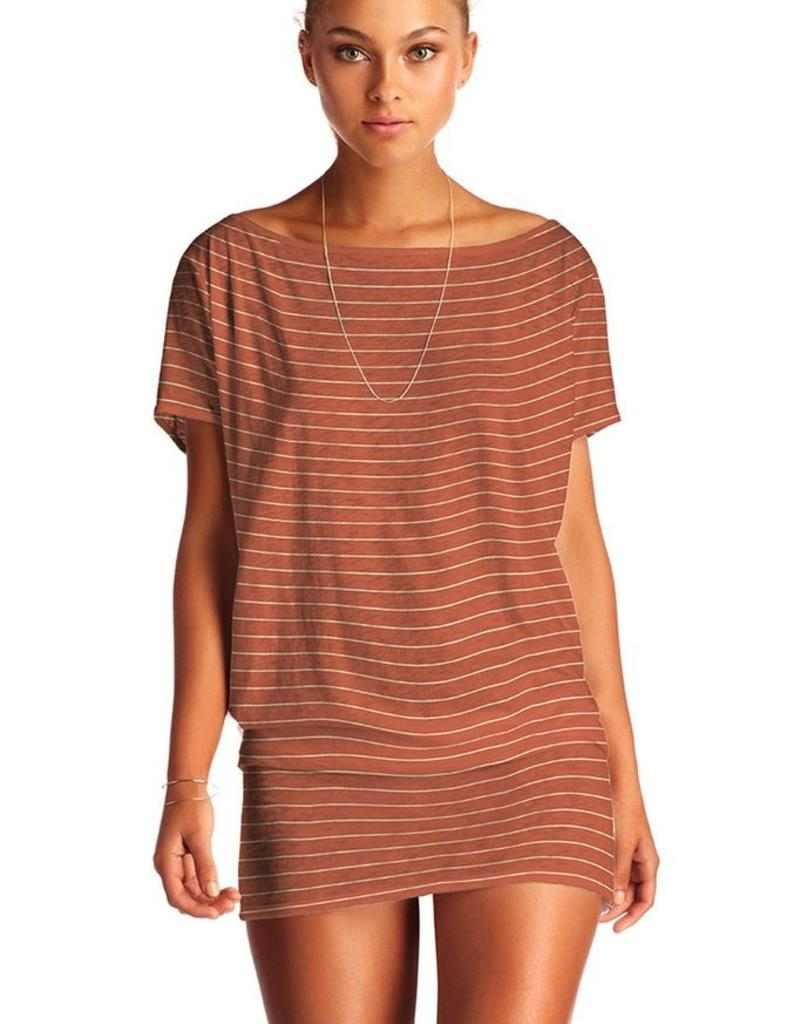 Tunic Vitamin A - Isla Tunic in Rum Jersey Stripe