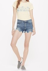 Shorts MOTHER - High Waisted Rascal Slit Chew Short Learning To Hula