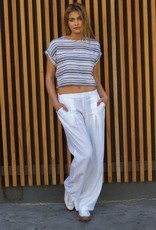 Tops Hard Tail - Scoop Crop Top in White