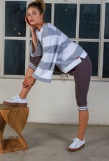 Sweater Hard Tail - Boatneck Slider in White