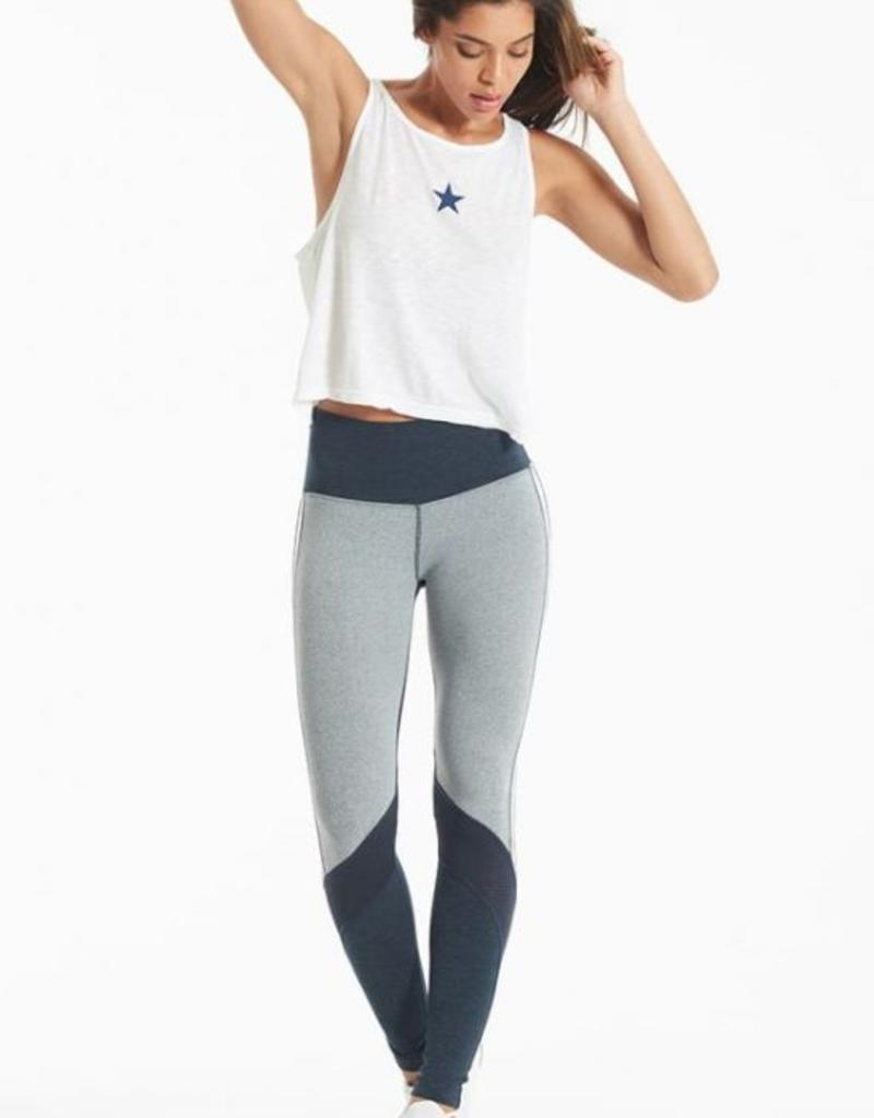 Tank Tops Hard Tail - Cropped Boatneck Star Tank Top in White