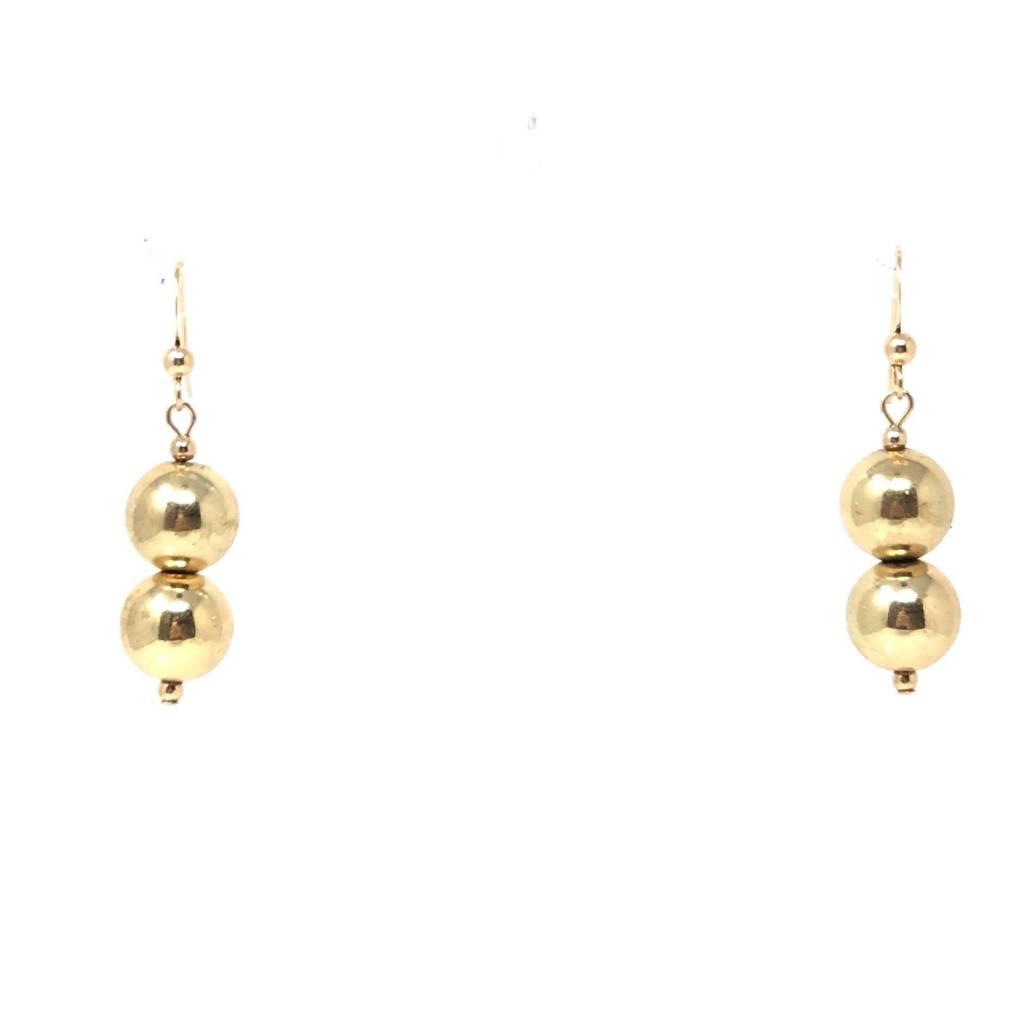 Coated Gold Hematite Earrings