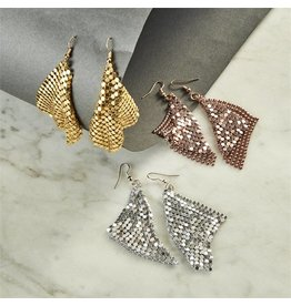 Metallic Mesh Earrings