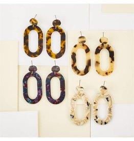 Printed Tortoise Earrings