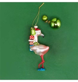 Festive Flamingo Ornament