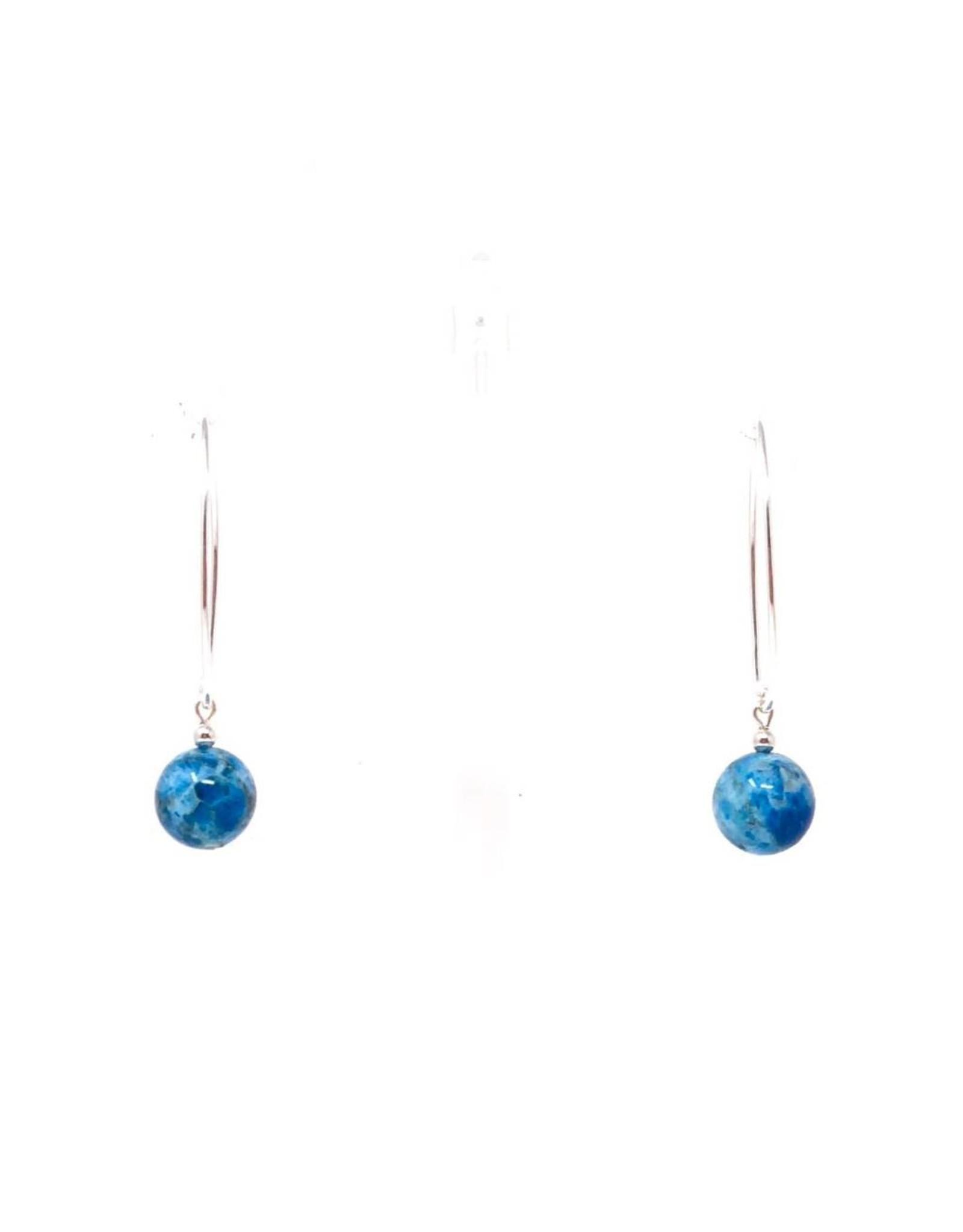 Apatite Large Hook Earrings