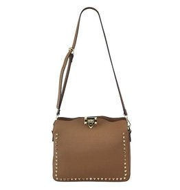 Tan Stud Valentine Bag
