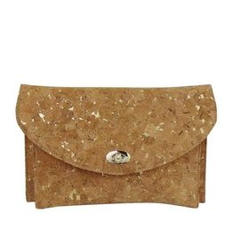 Gold Sparks Cork Clutch