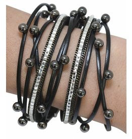 Black Disco Wrap Bracelet