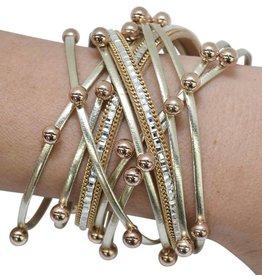 Gold Disco Wrap Bracelet