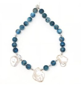 Lorient Apatite & Keshi Pearl Necklace