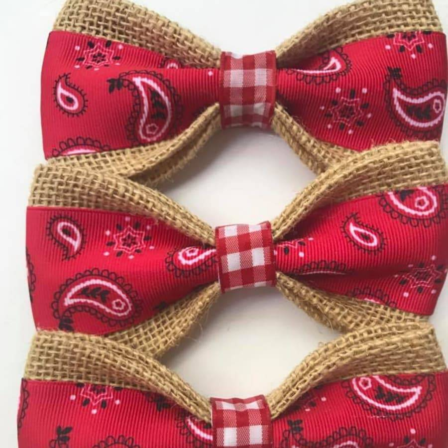 Dog Bow Ties Bandana Burlap Bow Ties