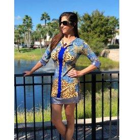 Portofino Blue Ariana Dress